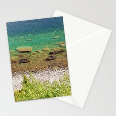 Stone shore on the lake in Canada Stationery Cards