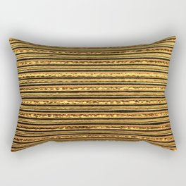 Patterned Gold Background Rectangular Pillow