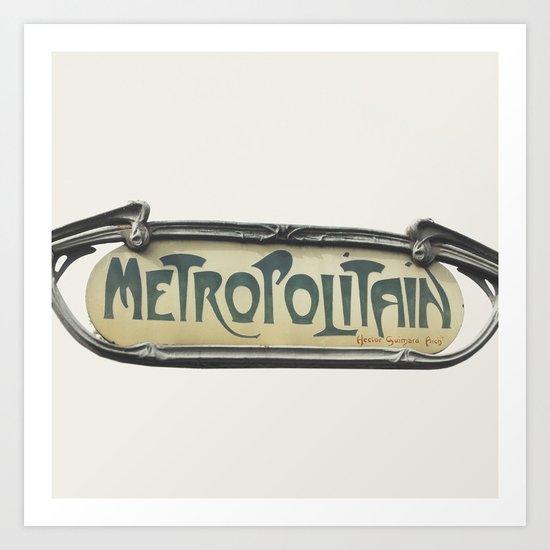 Metropolitain - Paris Sign Photography Art Print