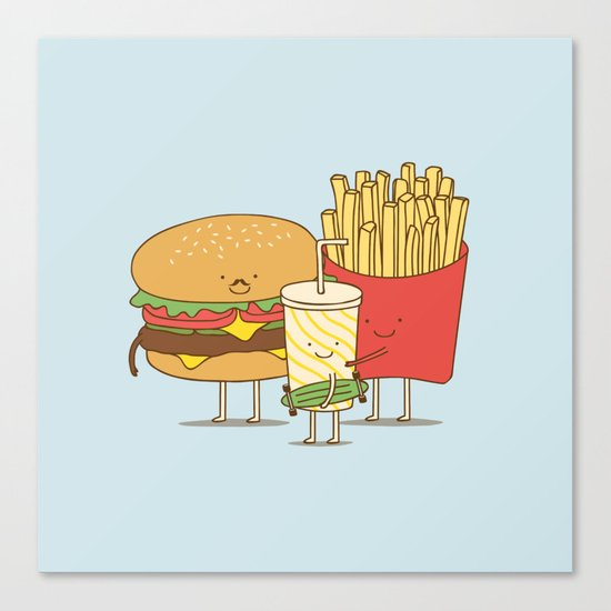family meal Canvas Print