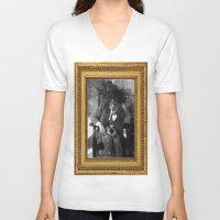 basquiat V-neck T-shirts featuring Samo Basquiat by Revolutionthrulife