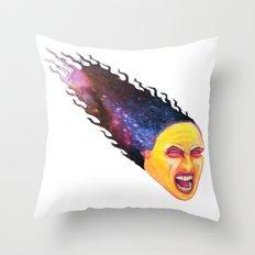 Comet Girl Throw Pillow