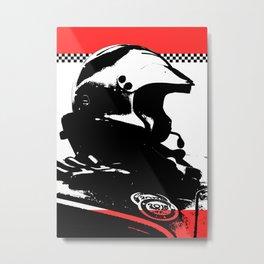 """Racing Helmet Design"" - Classic Cars Lovers Metal Print"