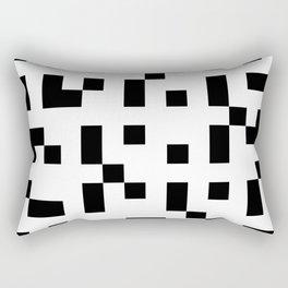 Black & White Square Grid Rectangular Pillow