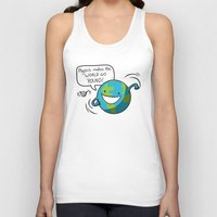 physics Tank Tops featuring Physics Makes the World Go 'Round! by awkwardyeti