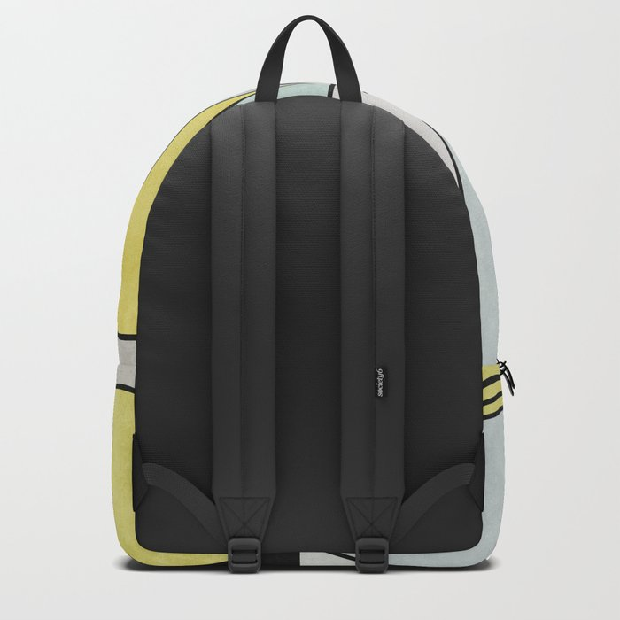 Colorful concrete triangles Backpack