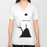 ufo V-neck T-shirts featuring UFO by Trokola
