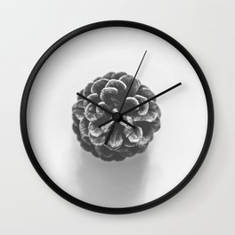 Layers of Warmth - Black and White Wall Clock