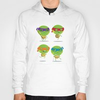 turtles Hoodies featuring Turtles by Maria Jose Da Luz