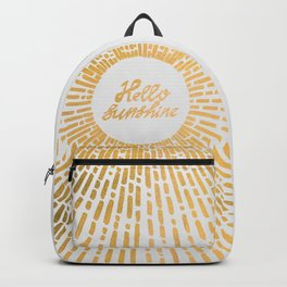 Hello Sunshine Gold Backpack