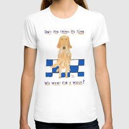 Golden Retriever Wants A Walk T-shirt