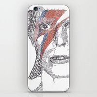 bowie iPhone & iPod Skins featuring Bowie by S. L. Fina