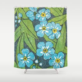 Forget-Me-Nots WSBPI Shower Curtain