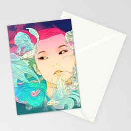 Fish Lady Stationery Cards