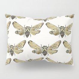 Summer Cicada – Black & Gold Palette Pillow Sham