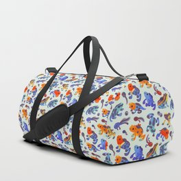 Poison dart frogs - bright Duffle Bag