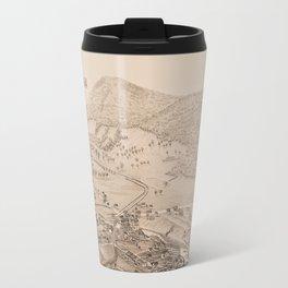 Ticonderoga Map 1884 (Sepia) Travel Mug
