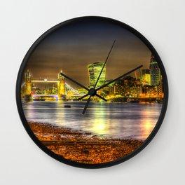 London at Night Wall Clock