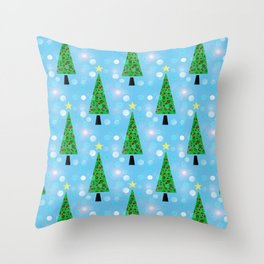 Christmas Repeat Throw Pillow