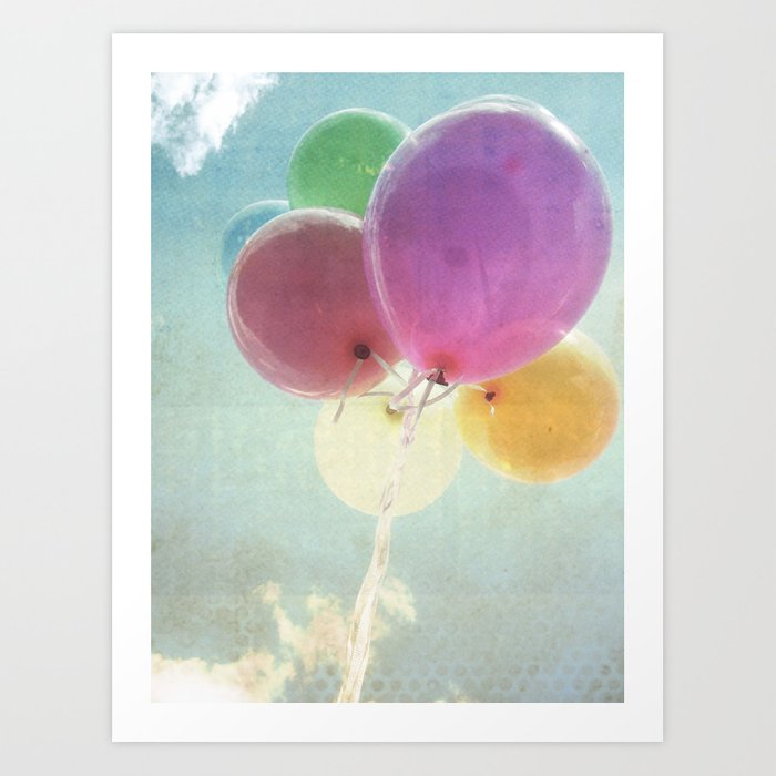 summer balloon Art Print