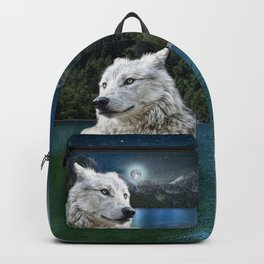 White Wolf and Moonlight Backpack
