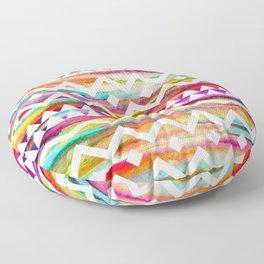 Aztek watercolor pattern Floor Pillow