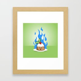 Flaming Pudding Framed Art Print