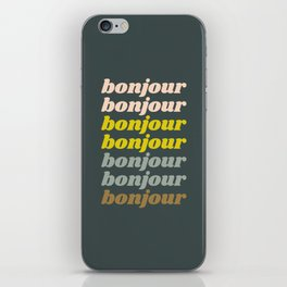 Bonjour in Pretty Pastels iPhone Skin