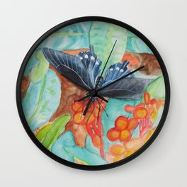 'Pipevine Swallowtail Butterfly' Wall Clock