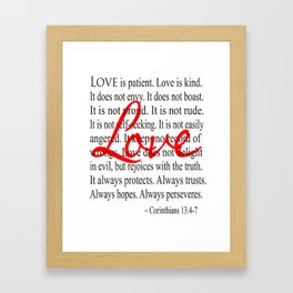 Love is Patient, Love is Kind. Framed Art Print