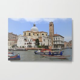 Rush hour in Venice Metal Print
