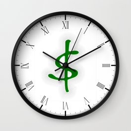Shrinking Dollar Wall Clock