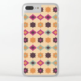 Seamless retro pattern geometrical vector texture background Clear iPhone Case