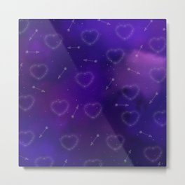Hearts and Arrows Constellation Metal Print