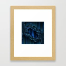 ~ Glinting Blues Framed Art Print