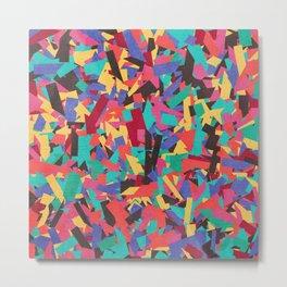 Seamless Colorful Geometric Pattern V Metal Print
