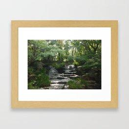 Waterfall at Kokoen Garden in Himeji Framed Art Print