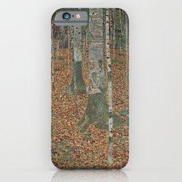 Gustav Klimt - Birch Forest iPhone Case