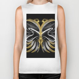 Abstract -Tiger Butterfly Biker Tank