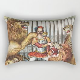The Lion Tamer - Vintage Circus Art, 1873 Rectangular Pillow