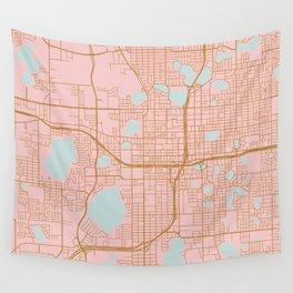 Orlando map, Florida Wall Tapestry