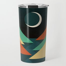 Quiet stream under crescent moon Travel Mug