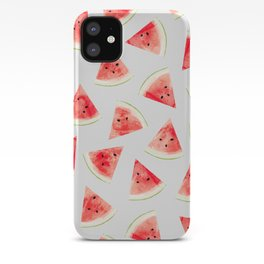 Watercolor Watermelon Pattern #society6 #buyart #decor iPhone Case