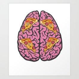 Problem Solving or Brainstorming Tshirt Design Left and right brain ideas Art Print
