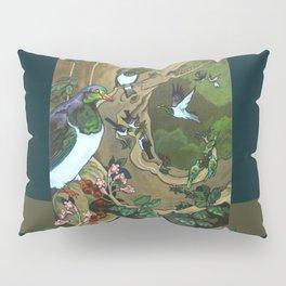 Pigeons, Parakeets and Fantails Pillow Sham
