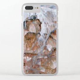 Mammoth Hot Springs Yellowstone Clear iPhone Case