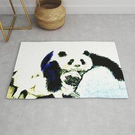 Pug and Panda after food Rug