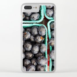 Bunches of Blueberries Clear iPhone Case