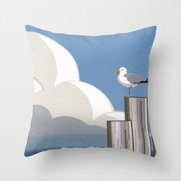 Silly Sea Skies Throw Pillow