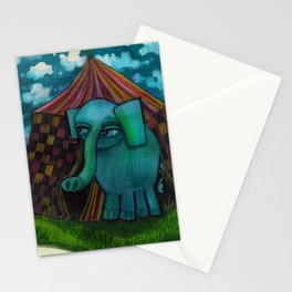 BLUE ELEPHANT.  Stationery Cards